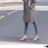 《SD0232》台灣製造.優雅側鏤空尖頭低跟鞋/粗跟鞋 OrangeBear