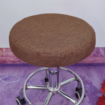 亞麻圓凳子套罩圓凳坐墊圓凳座套圓凳坐套座椅套圓椅子套罩圓椅套