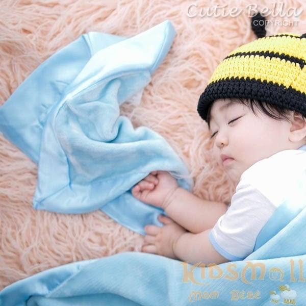 Cutie Bella 超柔軟嬰兒安撫巾 - 藍色