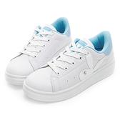 PLAYBOY 簡約仿皮綁帶休閒鞋-白藍