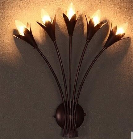 設計師美術精品館床頭壁燈創意浪漫田園客廳背景牆壁燈美式複古酒吧工程壁燈