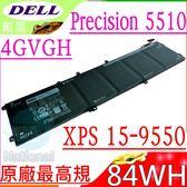 DELL電池(廠最高規)-戴爾 4GVGH,T453X,01P6KD,Precision 5510電池,XPS 15 9550,15-9550-D1828T電池,15 9550