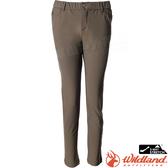 Wildland 荒野 0A72315-86深咖啡 女彈性腰頭鬆緊帶合身褲 雙向彈性/機能褲/爬山健行/休閒褲/修身剪裁