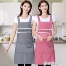 可愛日式圍裙女家用廚房北歐文藝公主防油做...