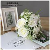 婚紗影樓攝影拍照道具新娘手捧花結婚新款粉紅白仿真韓式婚禮花束  ciyo黛雅
