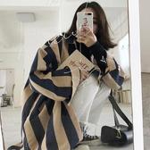 早秋上衣條紋襯衫女長袖2018春裝新款韓范社會襯衣網紅外套【全館上新】