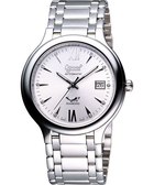 Ogival 愛其華 簡約時尚真鑽腕錶-銀 3832AJMS