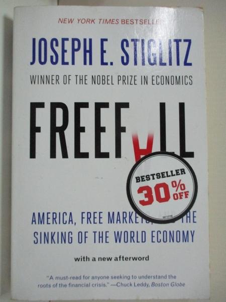 【書寶二手書T1/歷史_B5S】Freefall: America, Free Markets, and the Sinking of the World…