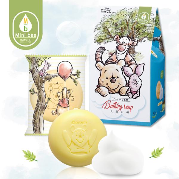 【出清$39元起】小熊維尼沐浴皂80g3入組[Pooh Bear友情萬歲]-Mini bee-生活工場