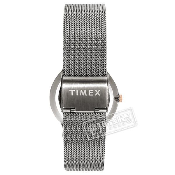 TIMEX 天美時 / TXTW2T74000 / 復刻系列 簡約風格 礦石強化玻璃 米蘭編織不鏽鋼手錶 灰棕x鍍鈦灰色 38mm