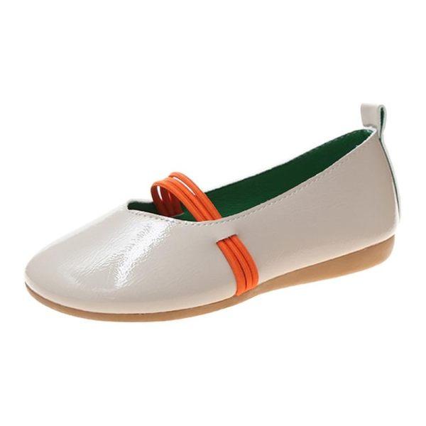 娃娃鞋 豆豆單鞋女夏款圓頭平底胖腳寬肥搭配裙子的鬆緊軟底 - 雙十一熱銷