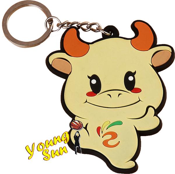 宣傳利器 造型鑰匙圈 客製化鑰匙圈 送禮好物 婚禮小物 個性鑰匙圈 廣告文宣  Q版牛公仔