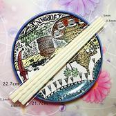 手工打磨牦牛骨筷子家用餐具防滑10雙骨瓷抗菌不發霉家庭裝