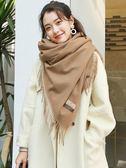 圍巾女秋冬季韓版百搭2018新款仿羊絨毛披肩兩用加厚保暖學生日系