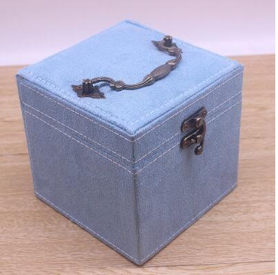 首飾盒公主歐式韓國手飾品首飾收納盒飾品盒【湖藍色】
