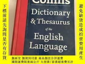 二手書博民逛書店Collins罕見Dictionary & Thesaurus of the English Language[柯