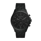FOSSIL個性三眼計時黑鋼腕錶FS5697