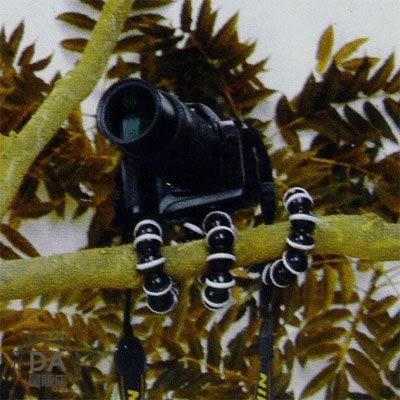 《DA量販店》抓力超 八爪章魚 三腳架 快拆雲台 巧小方便攜 可以調任意角 中(36-196)
