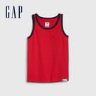 Gap 男幼童 柔軟舒適圓領無袖上衣 545085-正紅色