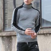 打底男毛衣 韓版男裝毛衣修身高領保暖打底衫個性毛線衣男針織衫套頭衫【五巷六號】ns6767