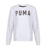 PUMA Athletic 女款白色長袖T恤-NO.85186702
