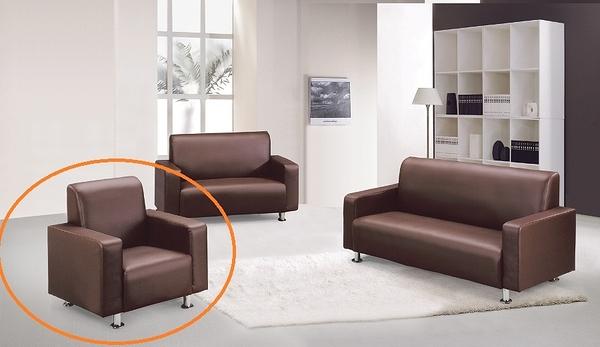 HY-603-2   868型沙發- 單人沙發 -咖啡色-單張