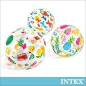 INTEX 熱帶風沙灘球-直徑51cm(隨機出貨)(59040)