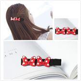 【NiNi Me】韓系髮飾 甜美可愛米妮紅色雙蝴蝶結鴨嘴夾髮夾  髮夾 H9292