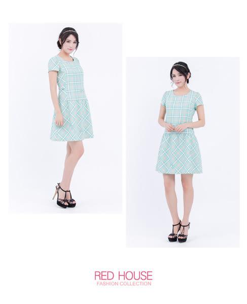 RED HOUSE-蕾赫斯-格子蝴蝶結洋裝(共2色)