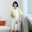 連身裙 兩件式鏤空質感短袖洋裝RE7103-創翊韓都