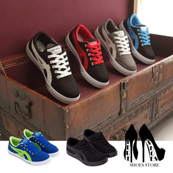 [Here Shoes]4色 嚴選百搭經典男款潮流帆布鞋 滑板鞋 運動休閒鞋  ◆MIT台灣製─AJ1555