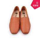 【A.MOUR 經典手工鞋】淑女低跟鞋 - 茶棕/ 跟鞋 / 進口質感牛皮 / 舒適低跟鞋 / DH-7501