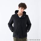 【GIORDANO】男裝素色鋪棉連帽外套 - 09 標誌黑