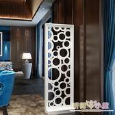 屏風 現代簡約客廳家具屏風鏤空座屏隔斷置物架花架時尚玄關屏風隔斷櫃 九折鉅惠