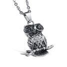 Mao  【5折超值價】最新款時尚個性貓頭鷹造型男款鈦鋼項鍊