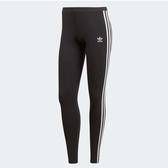 ADIDAS ORIGINALS 3-STRIPES 黑 白LOGO 三線 內搭 束褲 女(布魯克林) CE2441
