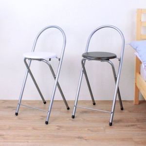 【頂堅】鋼管(木製椅座)折疊椅/吧台椅/高腳椅/摺疊椅/折合椅-二色深胡桃木色
