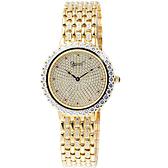 Ogival 愛其華 晶華典雅奧地利水晶鑽腕錶(金) 3811DG-0040