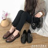 皮鞋ins女春季復古女鞋學生百搭英倫風單鞋子平底鞋潮 科炫數位