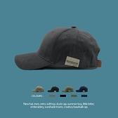 RUOKEKE韓國貼布棒球帽子女情侶百搭夏季遮陽帽復古軟頂鴨舌帽男