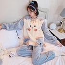 睡衣女秋冬季珊瑚絨加厚可愛甜美法蘭絨套裝學生大碼可外穿家居服 小山好物