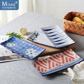 日式和風長方形壽司平盤創意陶瓷釉下彩盤子魚盤碟子日料盤   小時光生活館