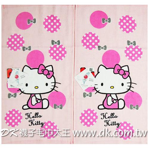 Kitty 復古紅圓點童巾 ~DK襪子毛巾大王