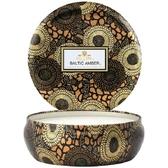 美國VOLUSPA|三芯錫罐蠟燭340g(東方琥珀)