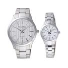 Roven Dino羅梵迪諾 藤紋設計時尚對錶-銀X白