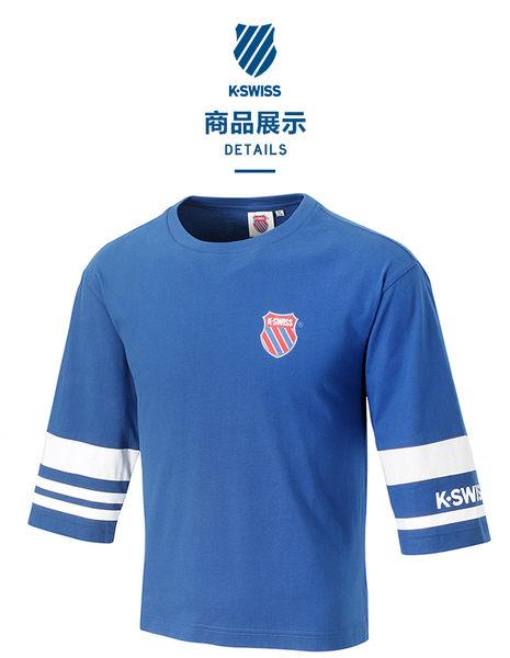 K-SWISS Half Sleeve T-Shirt印花短袖T恤-女-藍