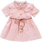 洋裝連身裙女寶寶夏裝連衣裙1-3歲嬰兒純棉衣服正韓2018女童碎花洋氣公主裙三角衣櫥