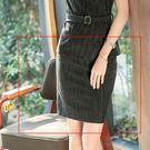 美之札[8S131-PF]中尺碼*OL細直條紋包臀半身裙窄裙