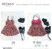 夏季女童連身裙韓版寶碎花無袖吊帶裙露小公主背裙子【奇趣小屋】