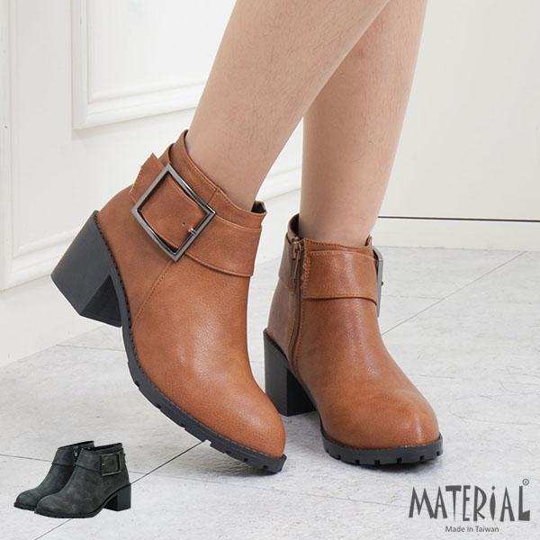 短靴 寬帶大方扣雲紋短靴 MA女鞋 T5617
